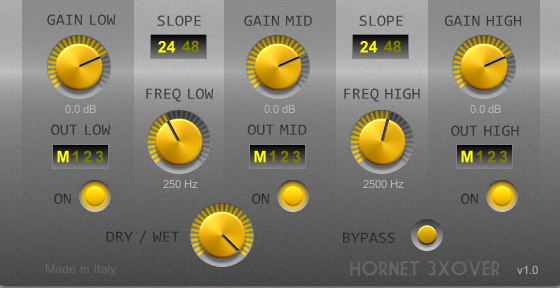 3XOver, vst plugin crossover for sound processing