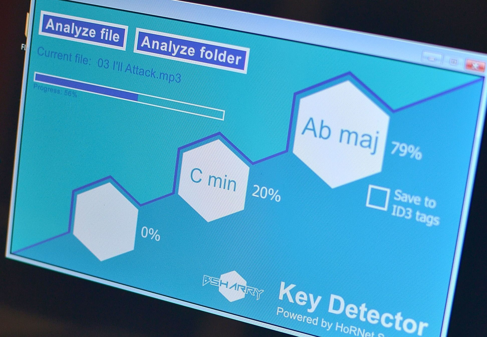 BSharry Key Detector, key detection for your mp3s