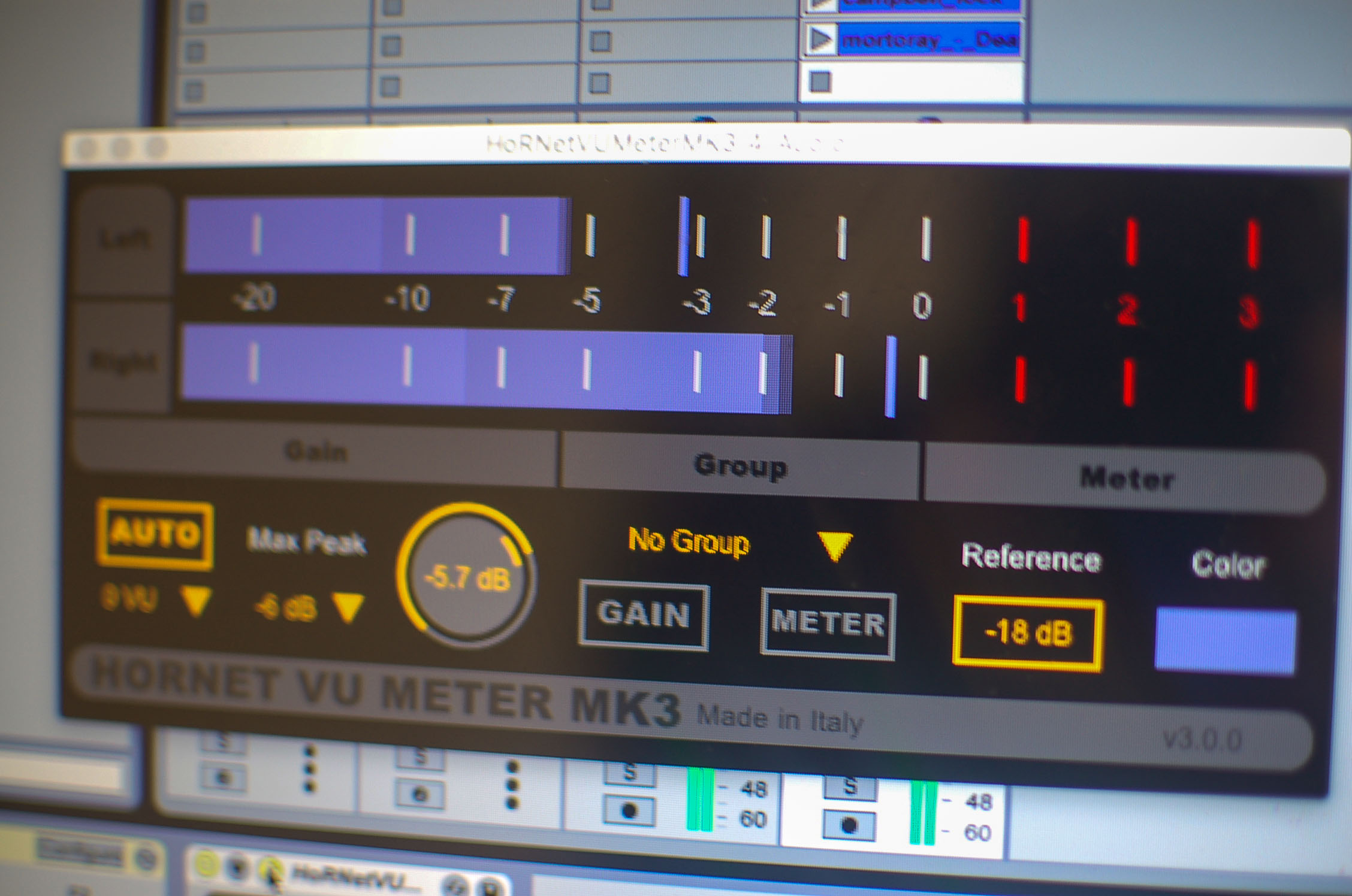 Digital Vu Meter : Hornet vu meter mk digital with auto gain staging