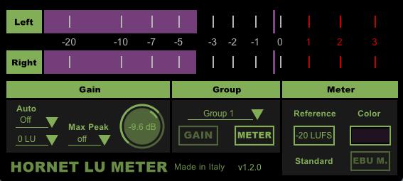 HoRNet LU Meter screenshot